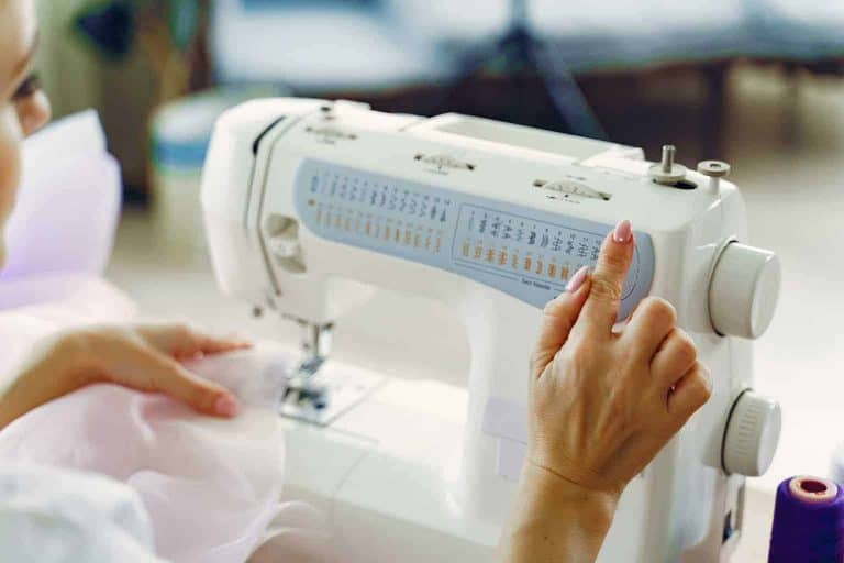 Adjusting Settings on a Sewing Machine