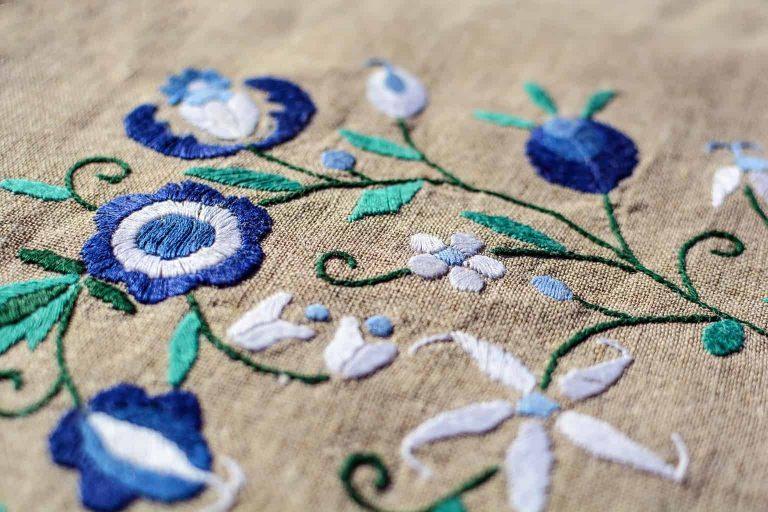 Beautiful Blue Floral Pattern