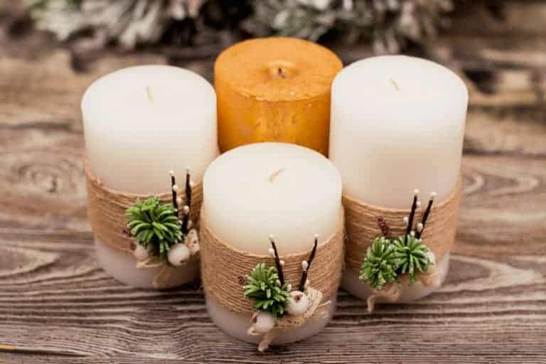 Beautifully Decorated Candles