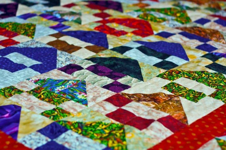 Close Up of a Quilted Blanket Pattern