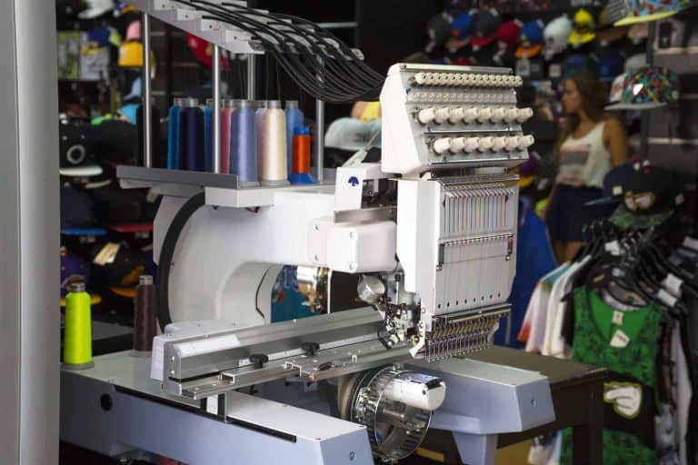 Embroidery-Machine in a Clothing Store