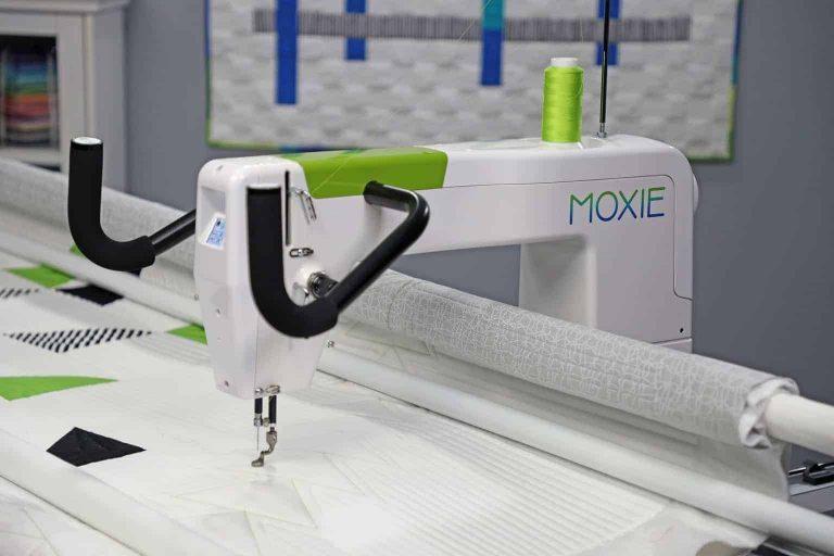 HQ Moxie Quilting Machine Side View