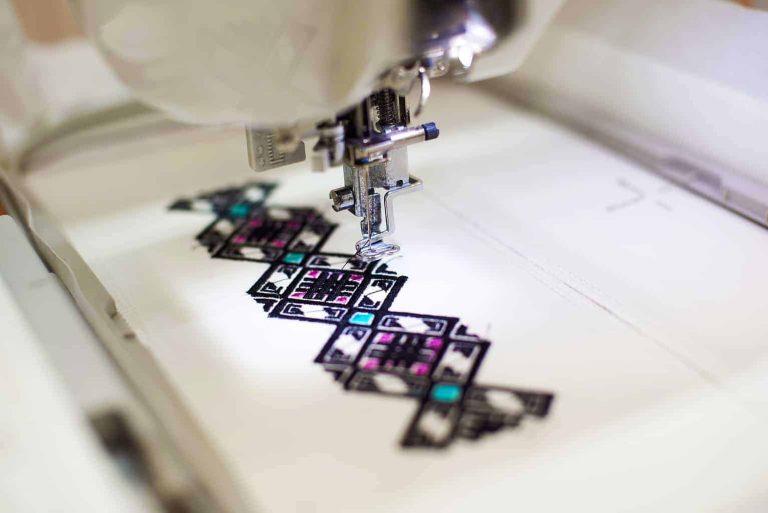 Machine Embroidering a Geometric Pattern