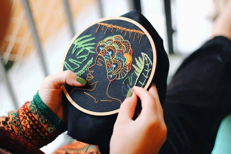 Making an Embroidery of a Human Portrait