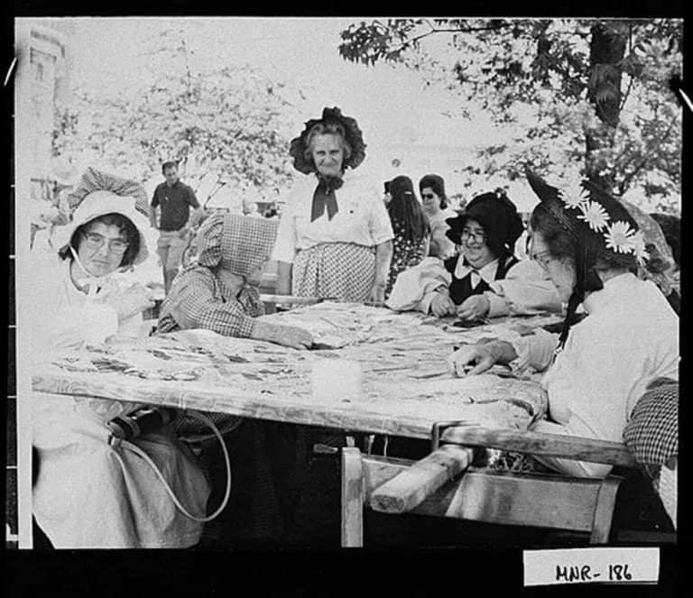 Old Image Of Quilters