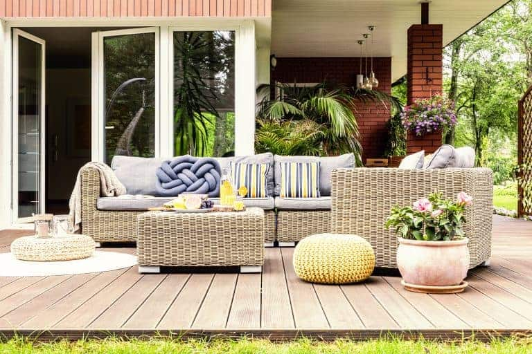 Outdoor Sectional on a Patio