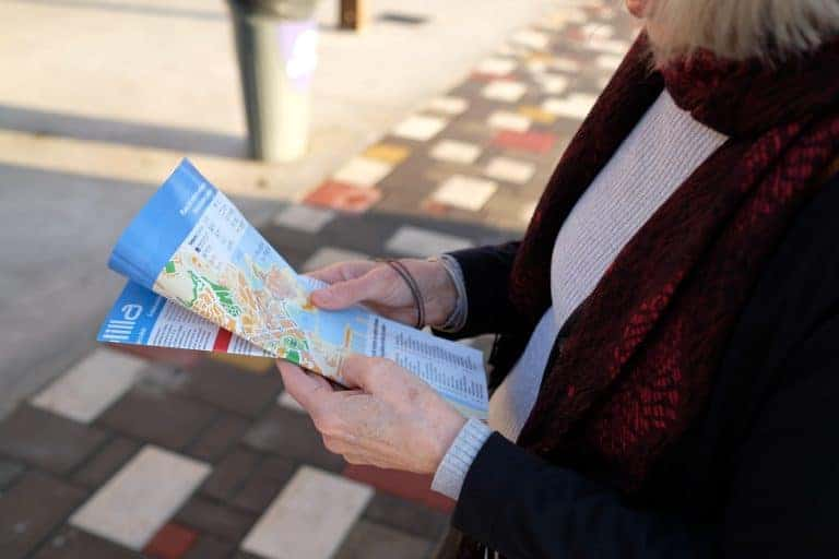 Person Browsing a Map