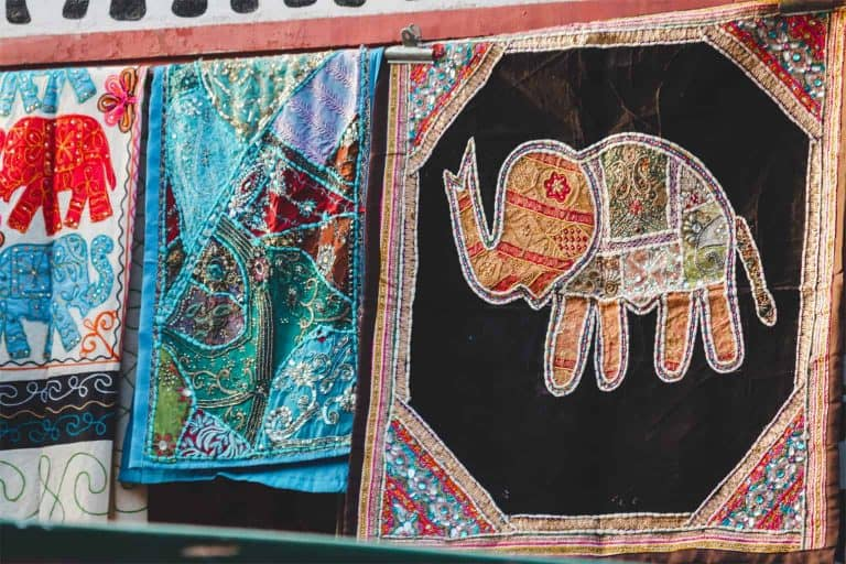Quilted Elephant Design Blankets