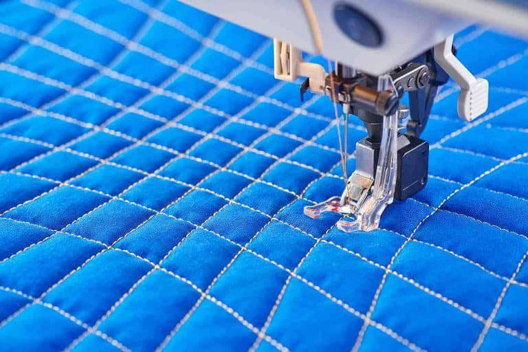Quilting Blue Fabric Close Up