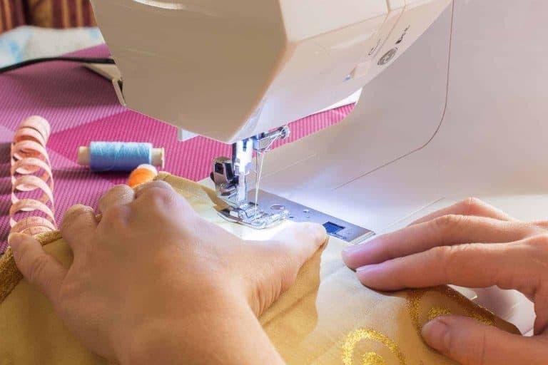 Sewing Gold Colored Fabric