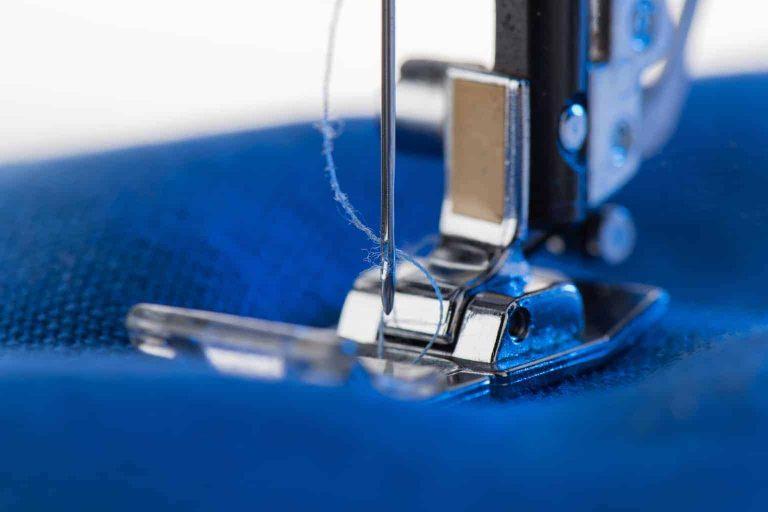 Sewing Machine Needle Closeup
