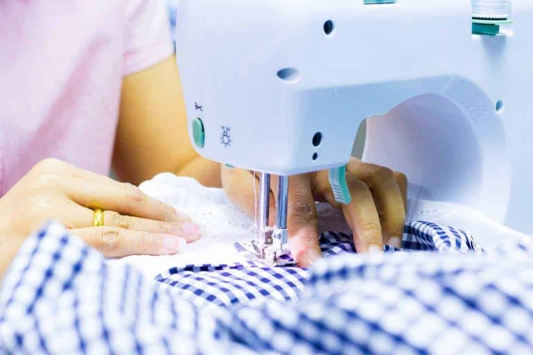 Sewing a Violet Gingham Fabric