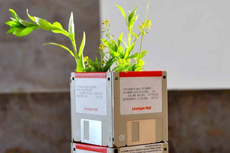 Upcycled Floppy Disks