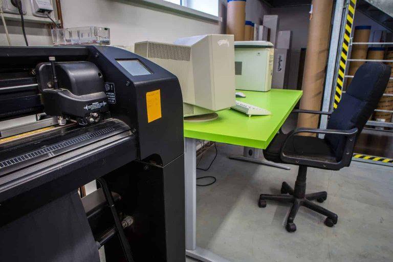 Vinyl Cutter in an Office