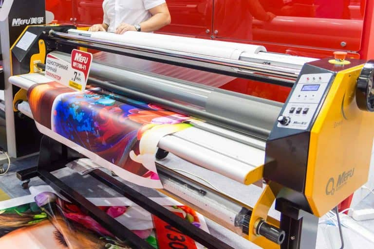 Wide Format Laminator on a Mall