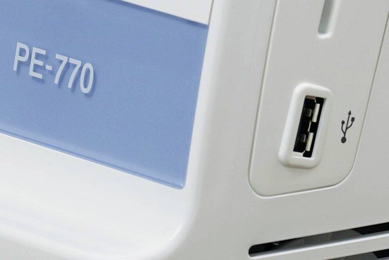 brother PE-770 USB Port